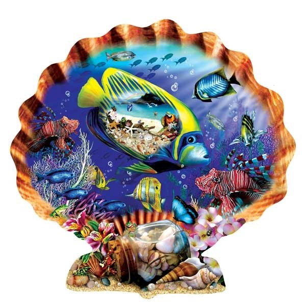 Souvenirs of the Sea painted by Lori Schory 1000 piece jigsaw puzzle manufactured by suns out souvenirs-of-the-sea-sunsout