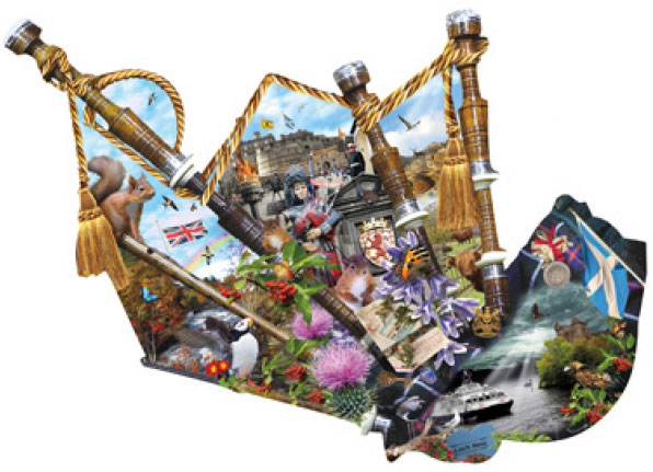 Scottish Heritage painted by Lori Schory 800 piece jigsaw puzzle manufactured by suns out scottish-heritage-sunsout