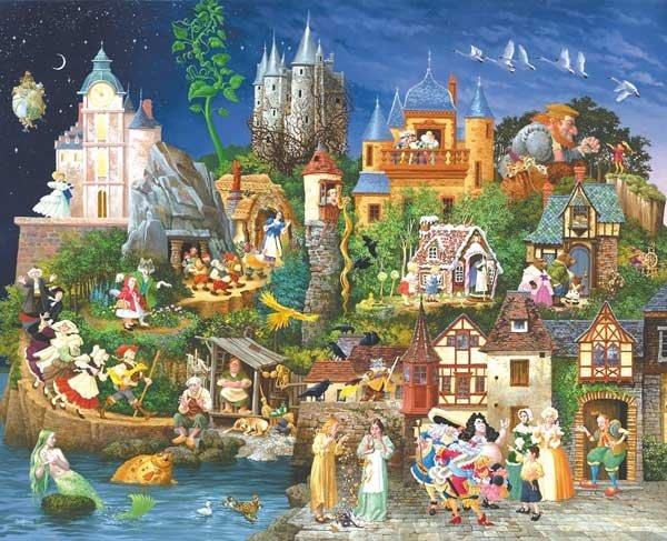 Fairy Tales painted by James Christensen 1500 piece jigsaw puzzle manufactured by suns out fairy-tales-sunsout