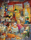 blue ribbon groomer painted by Bill Bell 1000 piece jigsaw puzzle manufactured by suns out