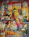 blue ribbon groomer painted by Bill Bell 1000 piece jigsaw puzzle manufactured by suns out Puzzle