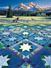 Mountain Vigil painted by Rebecca Barker 1000 piece jigsaw puzzle manufactured by suns out Puzzle