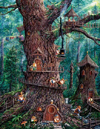 Forest Gnomes painted by Jeff Tift 1000 piece jigsaw puzzle manufactured by suns out Puzzle