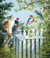 A Furry Special Delivery painted by Persis Clayton Weirs 300 piece jigsaw puzzle manufactured by sun Puzzle