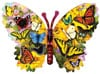 Wings of Color painted by Greg & Co 1000 piece jigsaw puzzle manufactured by suns out Puzzle