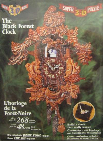 3 dimesnional puzzle clock that really works super 3-d puzzel blackforest clock includes quartz mech 3d-puzzle-black-forest-clock-the