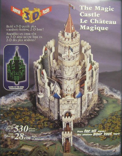 magic castle 3d puzzle supertek chateau magique glow in the dark 530 pieces for all ages towers draw 3d-puzzle-magic-castle-the