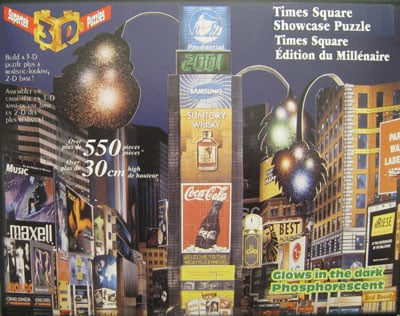 supertek 3d puzzle times square showcase puzzel over 500 pieces glows in the dark new york timessqua 3d-puzzle-times-square-showcase-puzzle