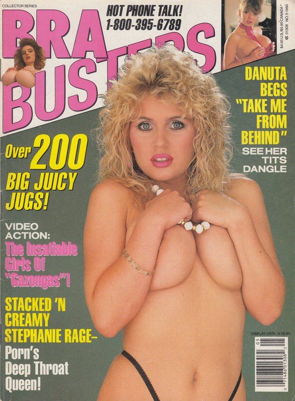 Swank Collector Series September 1990 - Bra Busters magazine back issue Swank Collector Series magizine back copy 200 big juicy jugs insatiable girls of gazongas danuta begs take me from behind tits dangle stacked
