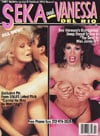 Swank Diamond Series February 1987 - Seka and Vanessa Del Rio magazine back issue cover image