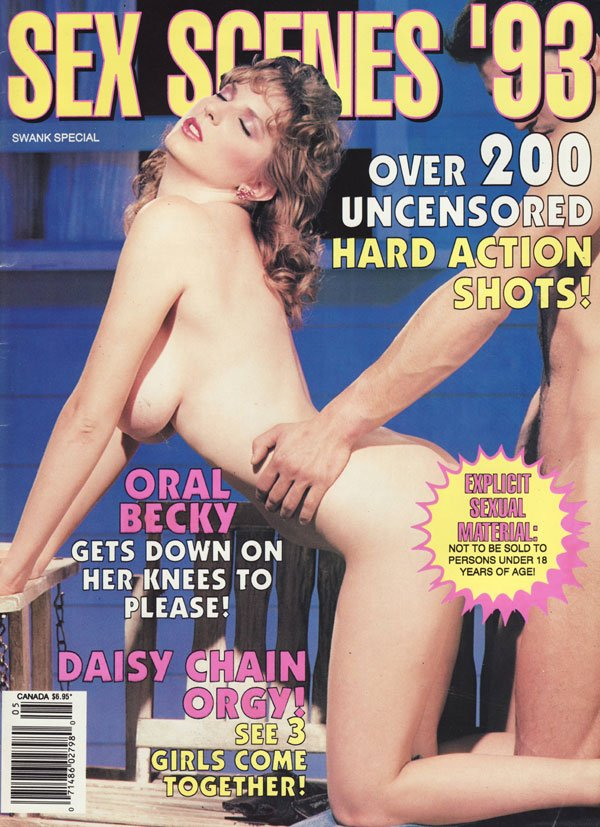 Swank Special May 1993 - Sex Scenes '93 magazine back issue Swank Special magizine back copy swank special sex scenes 93 hottest 90s pornstars explicit sexual material hardcore uncensored pix o