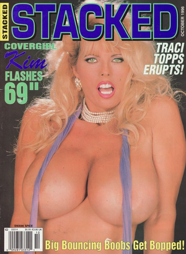 Swank Spice October 1996 - Stacked magazine back issue Swank Spice magizine back copy kim 69inches big bouncing boobs bopped traci topps erupts lilli kimberly kupps whitney traci heather
