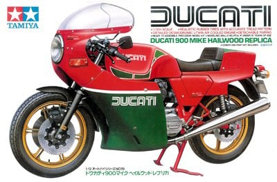 tamiya plastic model kit ducati 900 mike hailwood replica 1-12th scale ducati-900-mike-hailwood