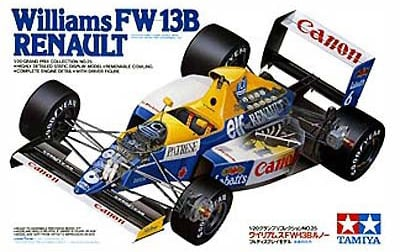tamiya plastic model kit williams fw13b renault 1-20th scale williams-fw13b-renault