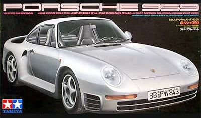 tamiya plastic model kit porsche 959 1-24th scale porsche-959-tamiya