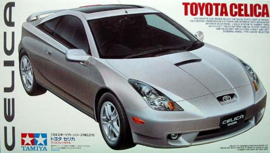 tamiya plastic model kit toyota celica 1-24th scale toyota-celica-1-24
