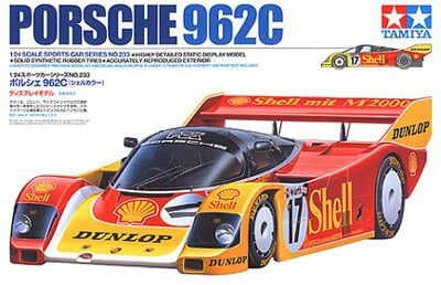 tamiya plastic model kit porsche 962c 1-24th scale porsche-962c