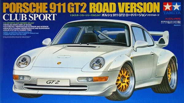 tamiya plastic model kit porsche 911 gt2 road version 1-24th scale porsche-911-gt2-road-version