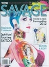 Tattoo Savage January 2013 magazine back issue cover image