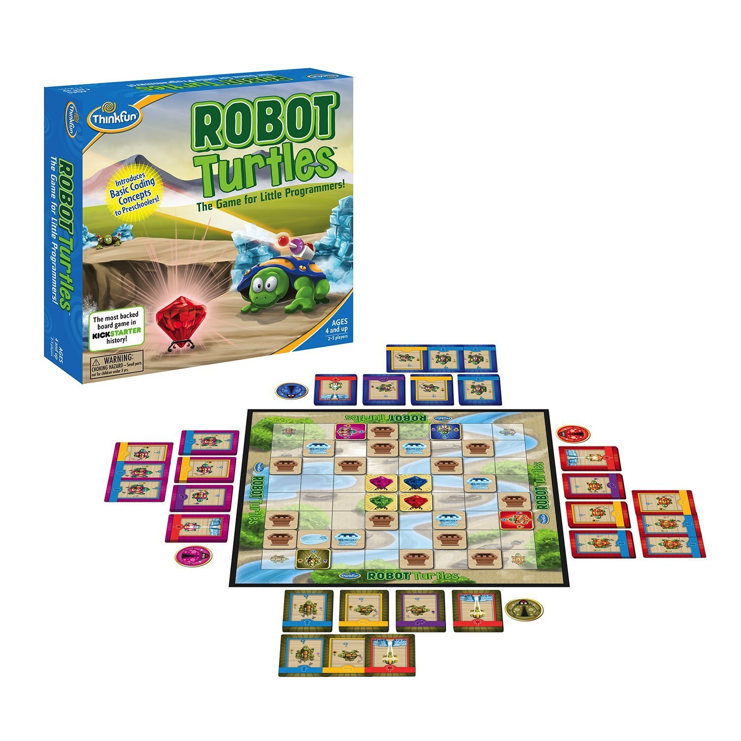 Robot Turtles Game for Little Programmers by ThinkFun robot-turtles