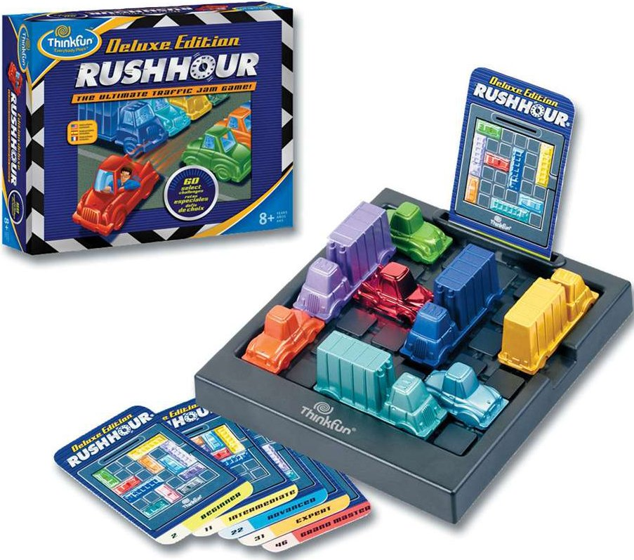 Rush Hour Deluxe Edition Logic Game by ThinkFun rush-hour-deluxe