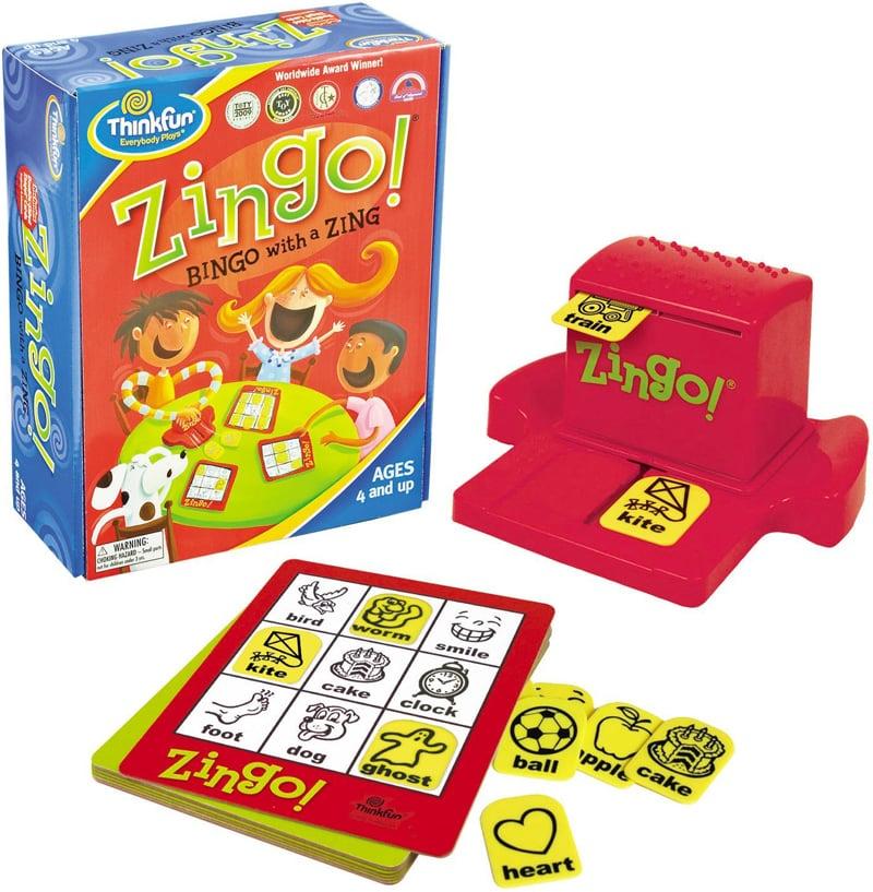 zingo bingo with a zing Game by ThinkFun zingo