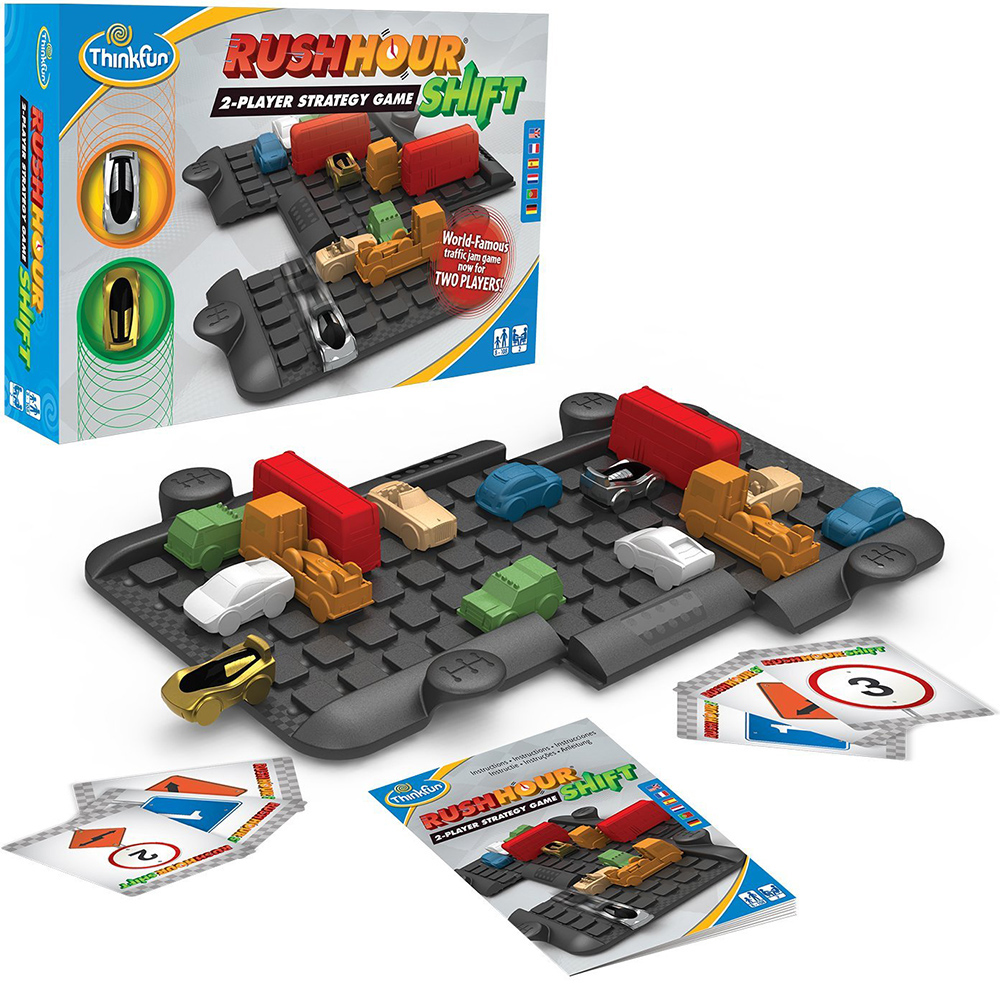Rush Hour Shift, 2-Person Strategy Game Game Made by Smart Games rush-hour-shift