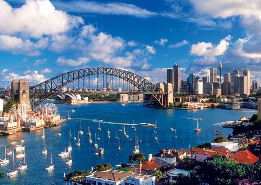 Port Jackson, Sydney, Australia 1000 Piece Jigsaw Puzzle made by Trefl Puzzles item # 102062 port-jackson-trefl