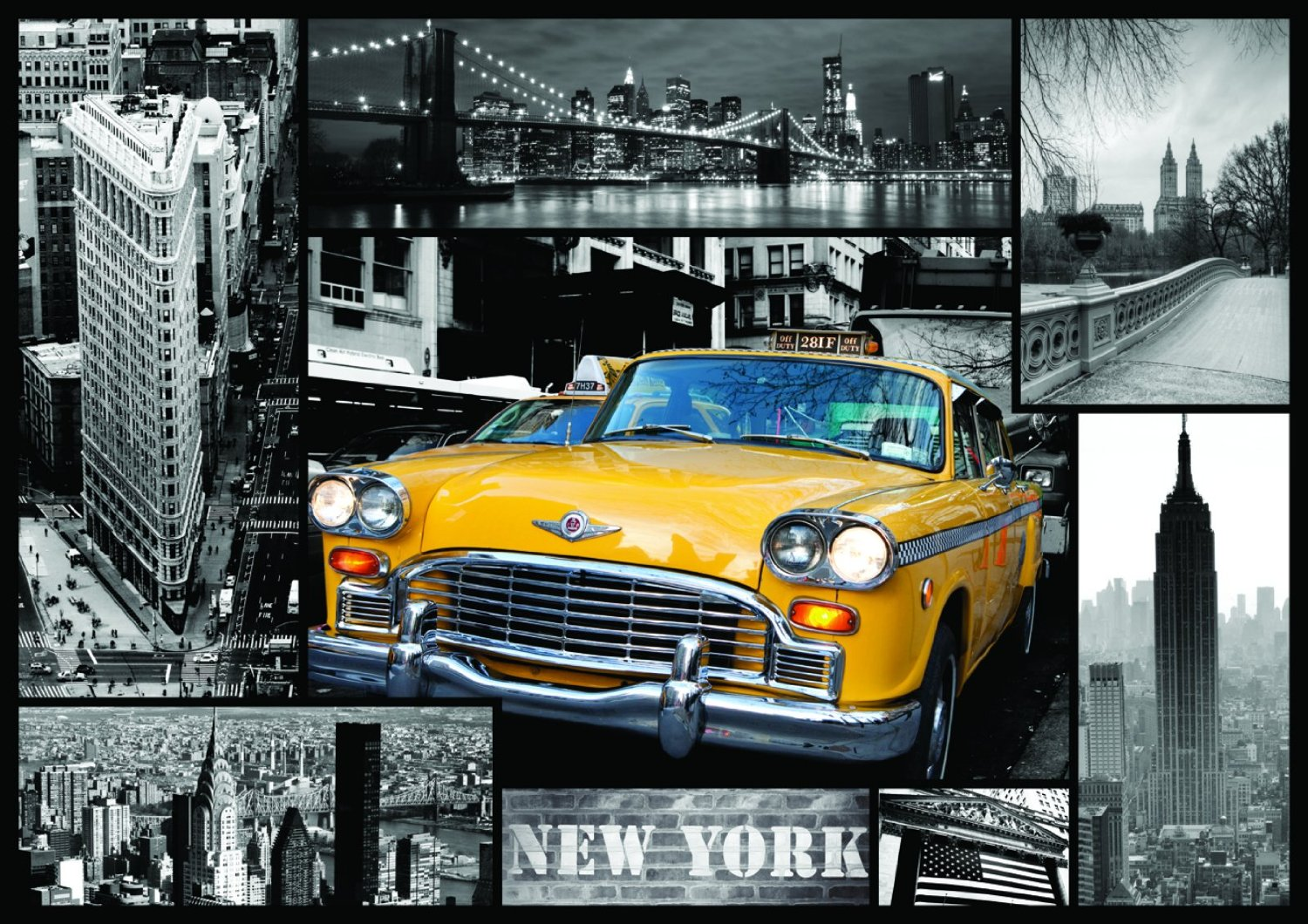 Trefl JigsawPuzzle 1000 Pieces by Trefl Games & Puzzles Poland yellow new york taxi cab new-york-taxi-collage
