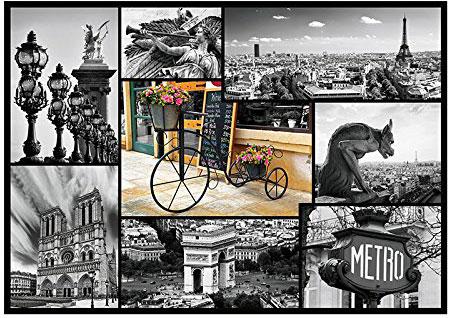 paris france collage jigsaw puzzle 1000 pieces ravebnsburger europe paris-collage