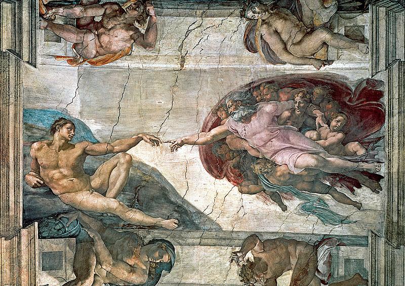 Michelangelo di Lodovico Buonarroti Simoni The Creation of Adam Trefl Jigsaw Puzzle 1000 thecreationofadamtrefl