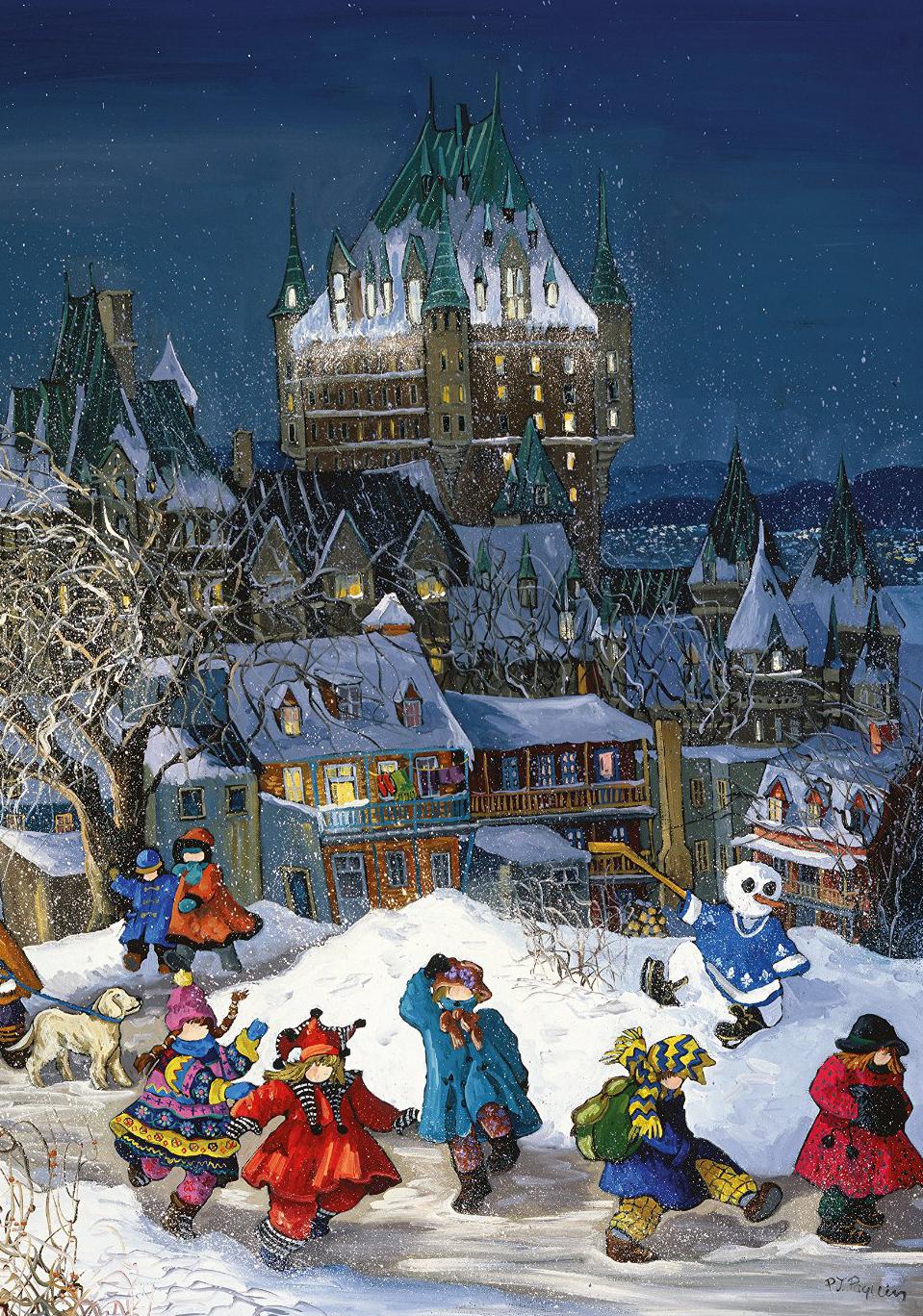 Trefl Jigsaw Puzzle 1000 Pieces Pauline Paquin Frontenac Castle in Quebec Canada frontenac-castle-qc
