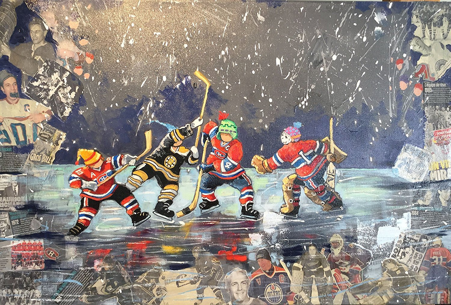 Trefl Jigsaw Puzzle 1000 Pieces Pauline Paquin The Glorious Hockey Players Canada the-glorious