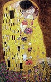Gustav Klimt's Painting The Kiss 1000 Piece Jigsaw Puzzle made by Trefl Puzzles item number 102918 Puzzle