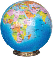 blue marble earthglobe sferical self-support structure model replaica earth builder special bluemarbleearthglobe9