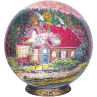 village globe 3 dimension jigsaw puzzle unicorn toys beautiful puzzel three dimensions the-village-3-dimensional-globe-shaped-jigsaw-puzz