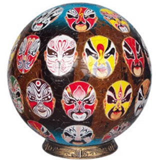 Peking Opera Painted Faces 3dpuzzle globe shaped unicorn not wrebbit puzz 3d cardboard not foam glob 3d-puzzle-peking-opera-painted-faces