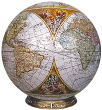 3d jogsaw puzzle antique nauticalmap 9 inch spherical globe showpiece collectable antiquenauticalmapglobe9