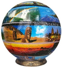 unicorn toys presents a spherical 3d jigsawpuzzle titled aroundtheworld 9 inch selfsupporting struct aroundtheworldglobe9