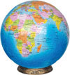1500 piece 3 dimensional jigsaw puzzle of the blue marble earth 15 inch in diameter includes base to