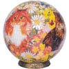 globe shaped 3 dimension jigsaw puzzle cats in flowers stand included beutifully crafted fun toy for Puzzle