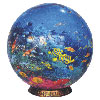 jigsaw puzzle three dimensional cardboard 500 pieces globe shaped ocean world round jigsaw puzzle un