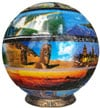 unicorn toys presents a spherical 3d jigsawpuzzle titled aroundtheworld 9 inch selfsupporting struct Puzzle