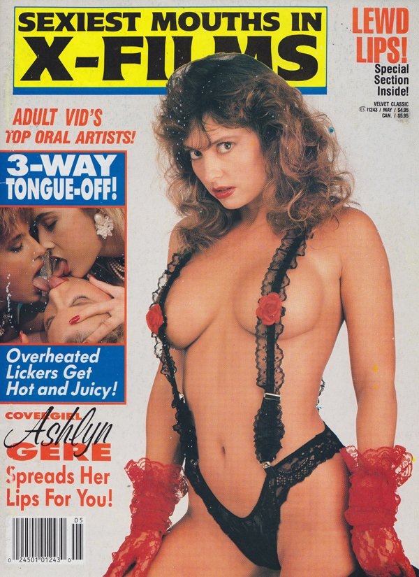 Velvet Classic May 1992 - Sexiest Mouths In X-Films magazine back issue Velvet Classic magizine back copy Top Oral Artists,Lewd Lips, Tongue-Off,Overheated Lickers Get Hot & Juicy,spreads her lips,tit tales