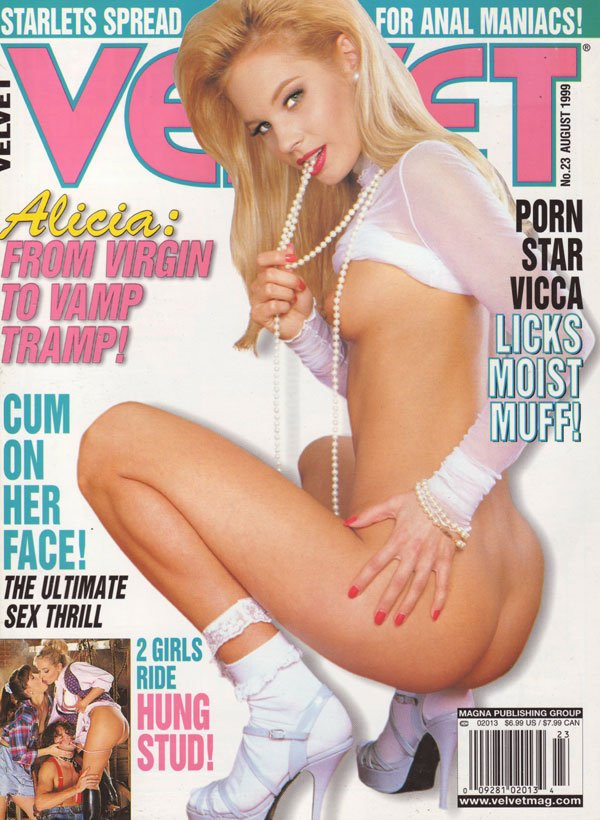 Velvet # 23 - August 1999 magazine back issue Velvet magizine back copy xxx magazine velvet back issues 1999 explicit pornstar pictorials spread open wide tight pussies hot