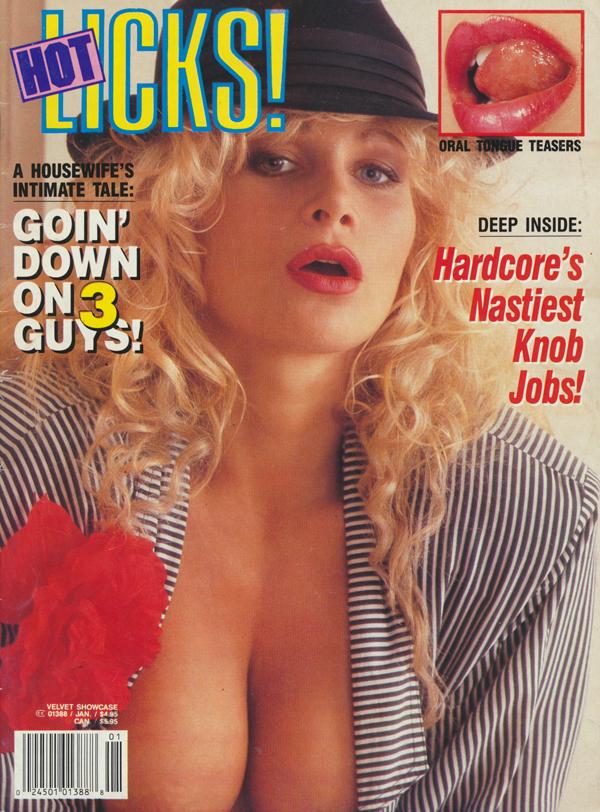 Velvet Showcase January 1992 - Hot Licks magazine back issue Velvet Showcase magizine back copy