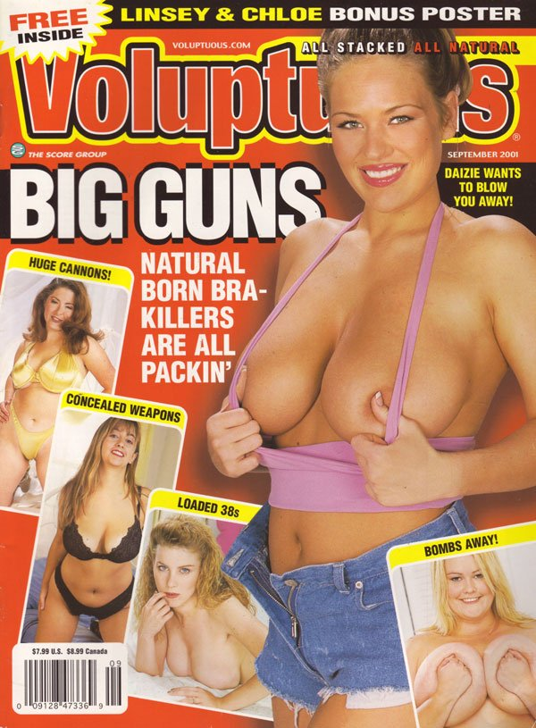 Voluptuous September 2001 magazine back issue Voluptuous magizine back copy voluptuous magazine score company all stacked all natural breasts the size of watermelons how can th
