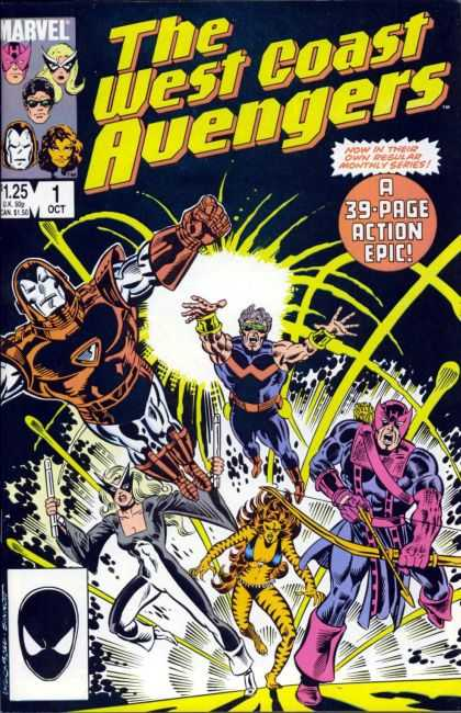 West Coast Avengers Comic Book Back Issues of Superheroes by A1Comix
