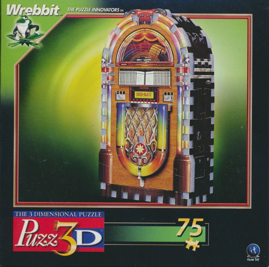 jukebox mini puzzle, wrebbit manufacturer fun small jigsaw puzzle for the family jukebox