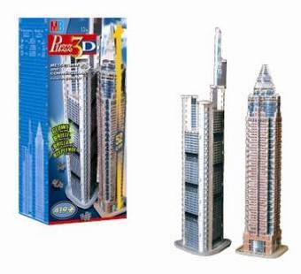 glow in the dark 3d jigsaw puzzle wrebbit skyscraper tower series glow in the dark set includes 2 bu 3d-puzzle-commerzbank-tower-messeturm